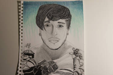 My Drawing of Jake Noakes from Oceans Ate Alaska by WolfzArt13