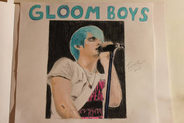 My Drawing of Awsten Knight from Waterparks by WolfzArt13
