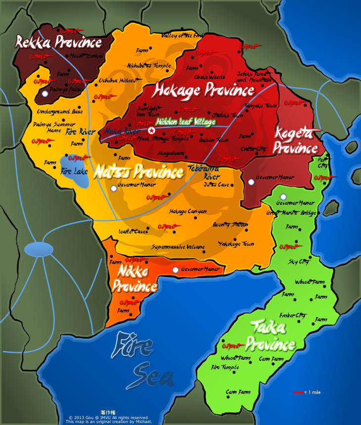 GEOGRAPHY: Land Of Fire Map By Fire Daimyo ...