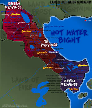 NARUTO MAP: Land of Hot Water / Land of Steam