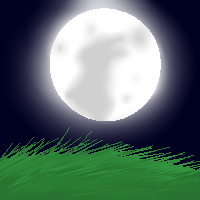 Rabbit in the moon Pixelated by PuddingzWolf