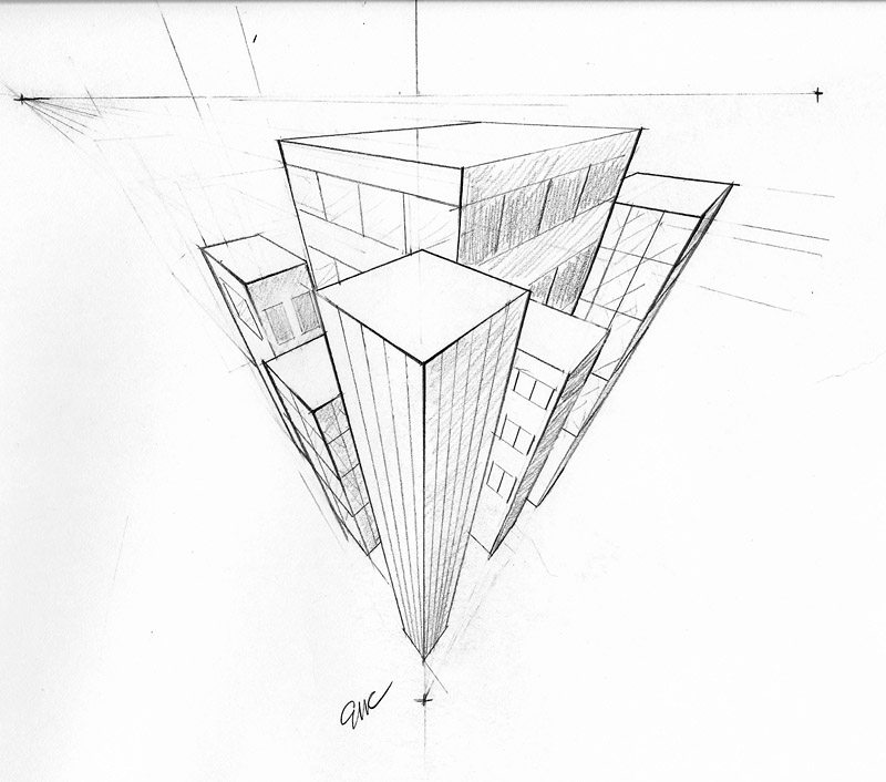3 Point Perspective By Erinclayton On Deviantart