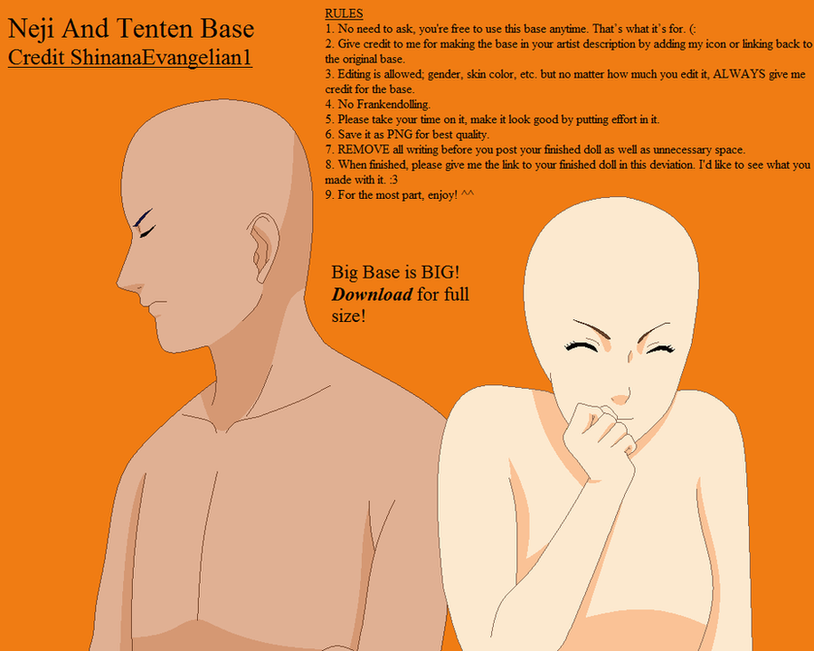 Neji and Tenten Base by ShinanaEvangelian1