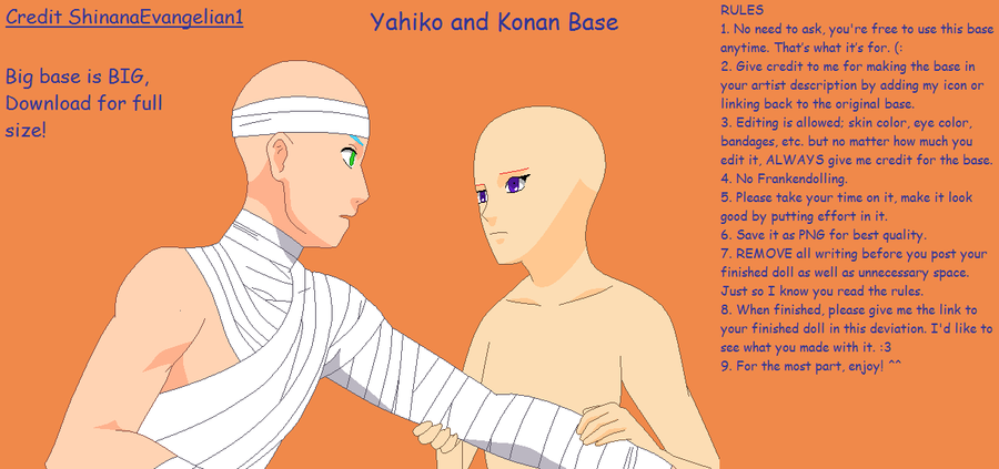 Yahiko and Konan Base by ShinanaEvangelian1