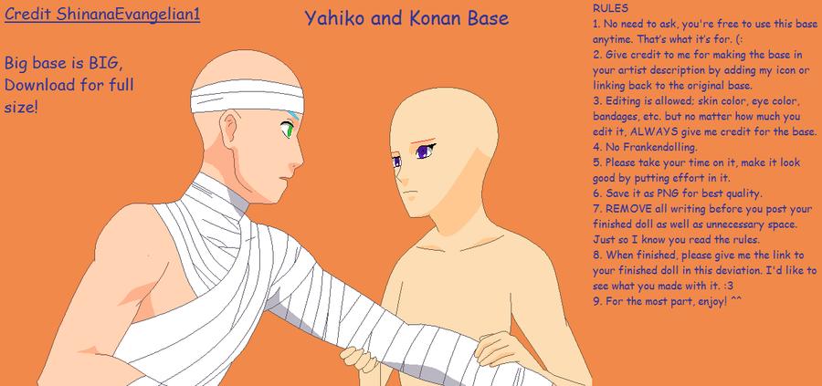 Yahiko and Konan Base by ShinanaEvangelian1