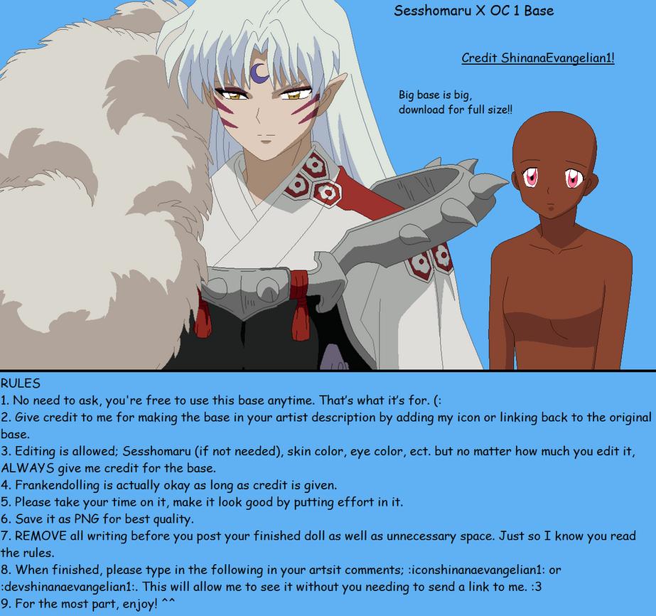 Sesshomaru X OC 1 Base by ShinanaEvangelian1