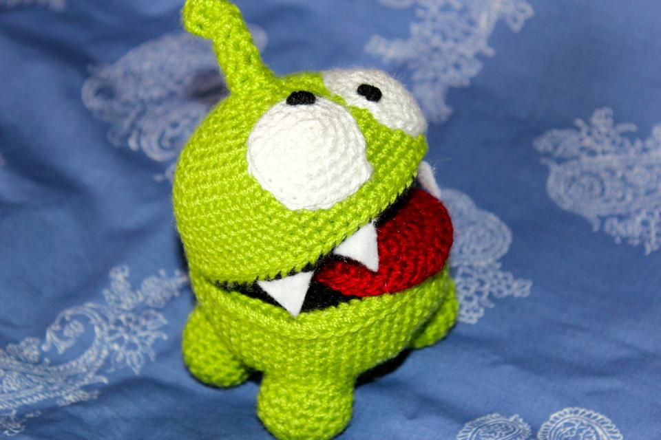 Amigurumi Forum Net : Om nom amigurumi cut the rope character by wheredidmycrochetgo on