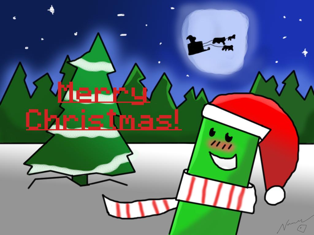 Minecraft Christmas Wallpaper by Noodledew on DeviantArt