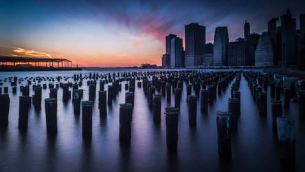 NYC Sunset Christmas