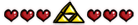 Triforce and Heart Divider by Meridot