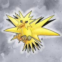 #145 Zapdos Pokemon Challege by Meridot
