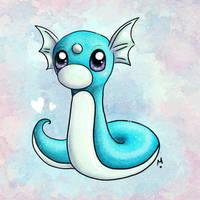 #147 Dratini Pokemon Challenge by Meridot
