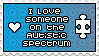 I love someone on the spectrum Stamp