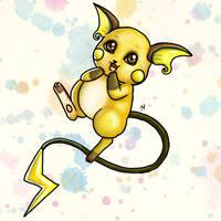 #26 Raichu Pokemon Challenge by Meridot