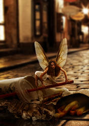 Urban Scavenger Faerie by Shorra