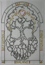 YGGDRASILL - Disegno su Vetro by Aiken87