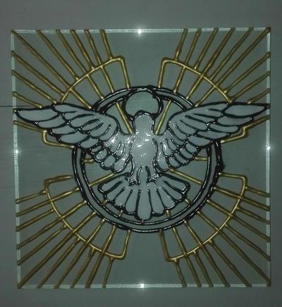 SPIRITO SANTO - Disegno su vetro by Aiken87