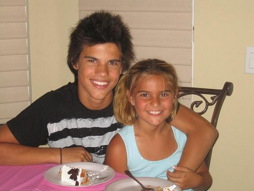 Taylor Lautner and Sister