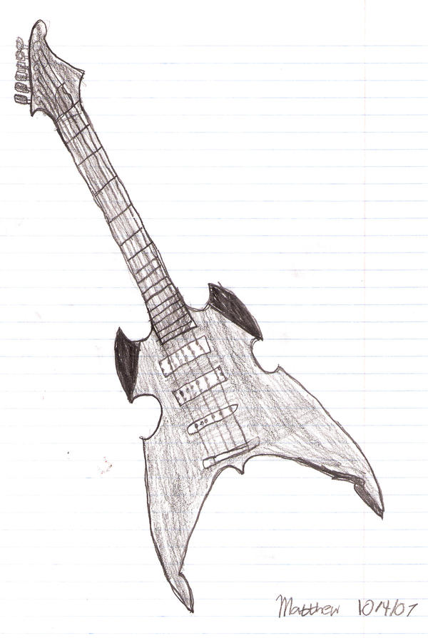 Another Electric Guitar Sketch By Halloweenguy1995