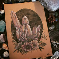 Inktober Day Three: Crystal Cluster