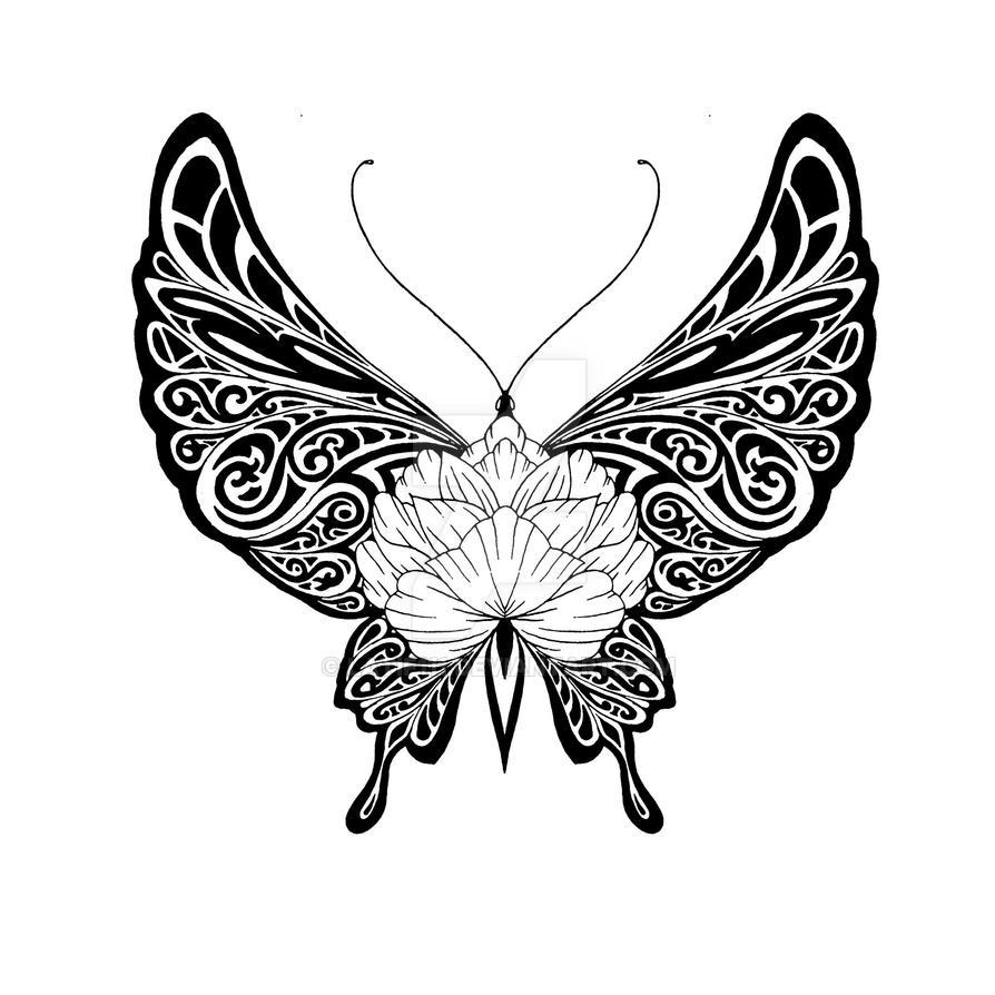 tribal butterfly drawings - 894×894