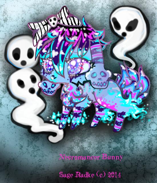 Necromancer Bunny DTT by limpythebunny17