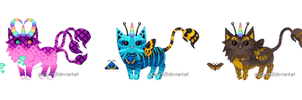 Three Custom Unicats by Quapon