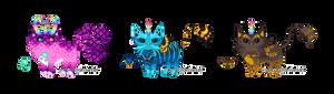 Three Custom Unicats