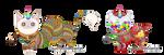 Custom Unicats - Long + Gumball Mutants by Quapon