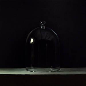 Bell jar, 26cm x 26cm, Oil on Aluminium, 2016.