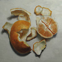 Orange, 12.5cm x 12.5cm, Oil on Aluminium, 2016.