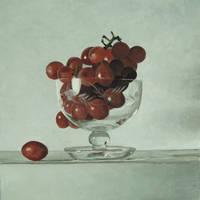 Grapes, 26cm x 26cm, Oil on Aluminium, 2016.