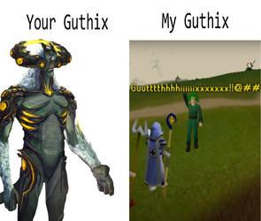 Runescape: Your Guthix vs. My Guthix by PurpleRoseOfZaros