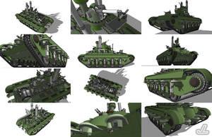 Mobile War Fortress 'Climber' by JazzLizard