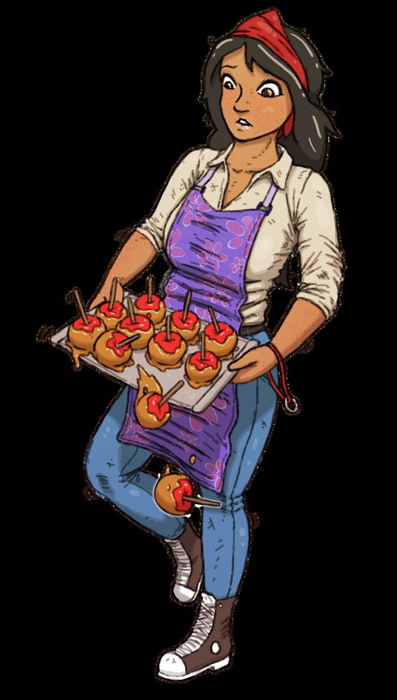The Clumsy Caramel Apple Girl