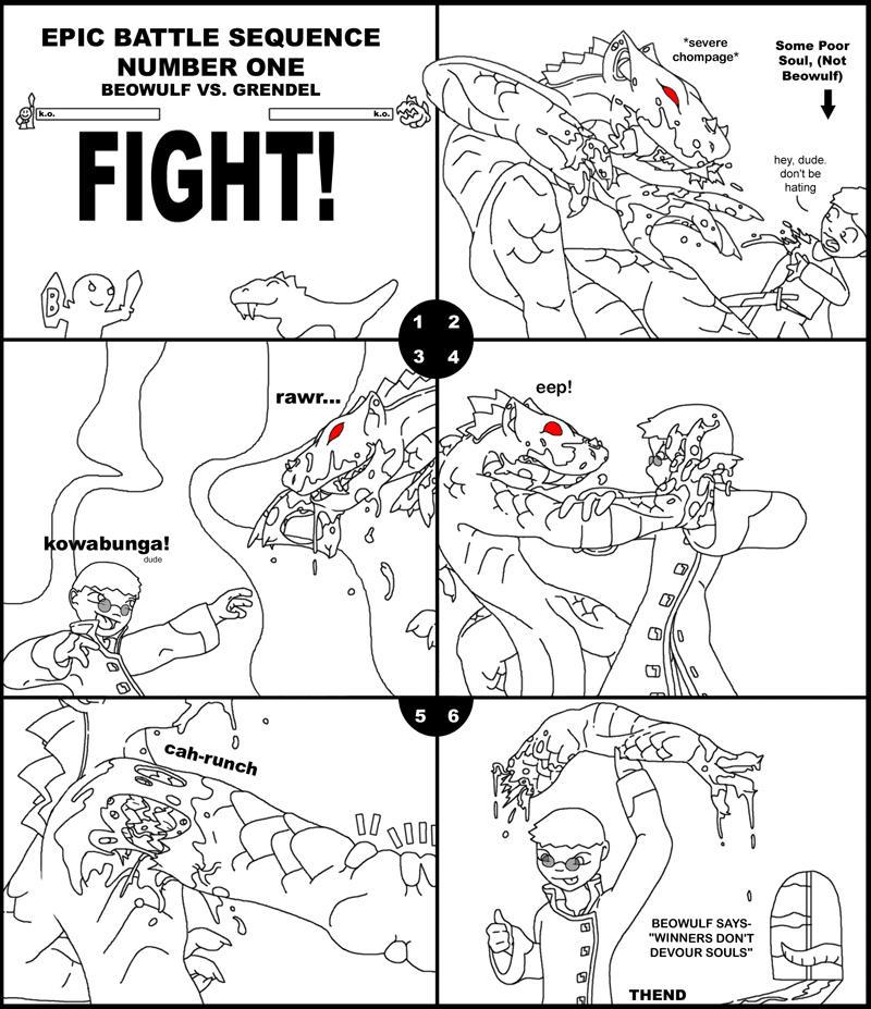 Grendel the monster by ShadowedFate on DeviantArt |Beowulf Fighting Grendel Drawing
