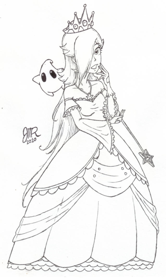 new dress for rosalina by jmr mobius 1 - Rosalina Peach Coloring Pages