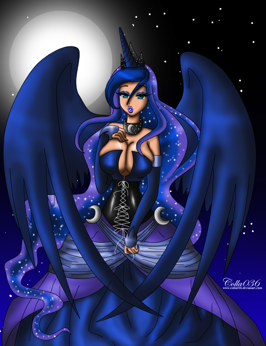 Human Princess Luna By Colla036 On DeviantArt