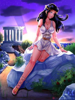 Sunrise Over Olympus | Helene ~ Battle of Olympus by DeadPhoenX