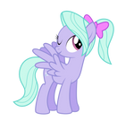 Flitter with a ponytail