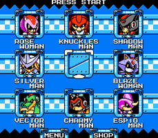 Mega Man x Sonic - Stage Select (WIP)