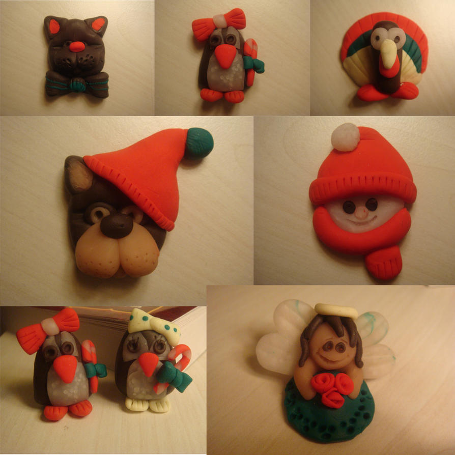 Xmas ideas with polymer clay by FimolaTe