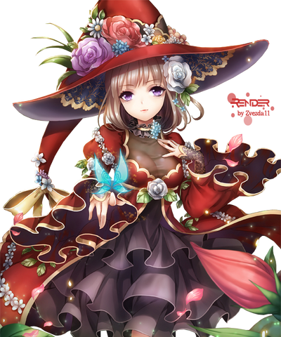 45 renders manga Witch_02_by_zvezda11-d8o32kg