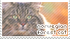 Norwegian Forest Cat Stamp