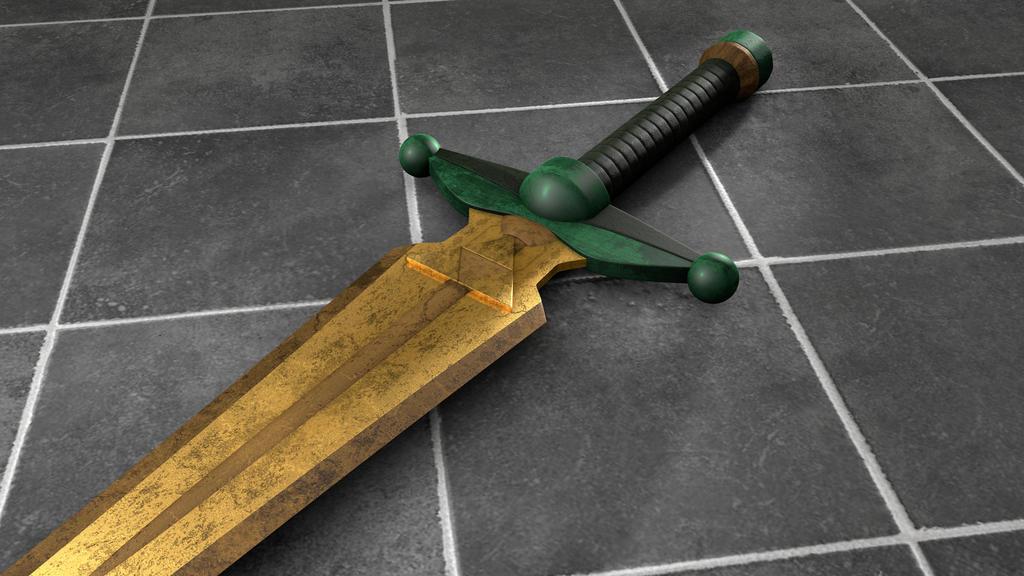 TLoZ A Link to the Past Golden Sword by SenseiHaketon on