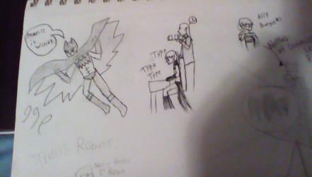 lame Amulet/DCU AU doodles