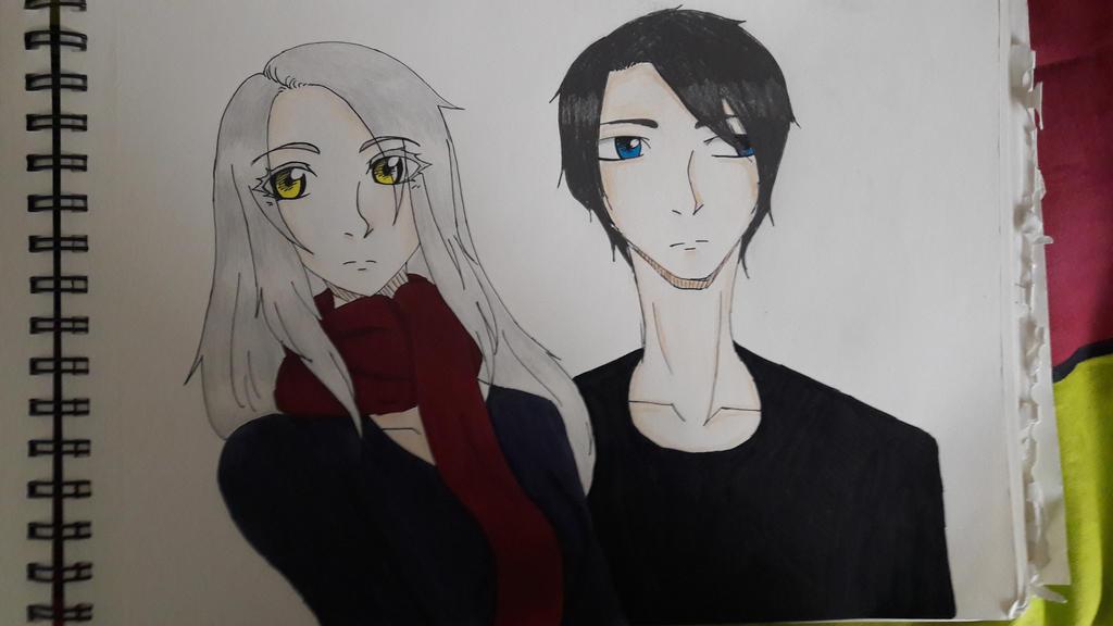 hey look at my two oc's by TsukiiDesu