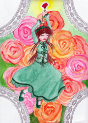 Lady in Roses by Lilac-Hime