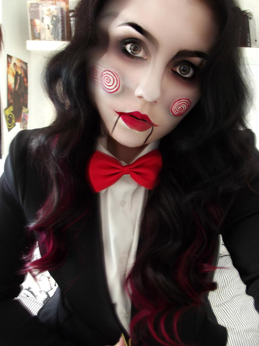 Creepy Jigsaw Make-up Cosplay by KikiMJ on DeviantArt