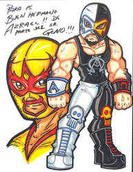Azrael and Fray Tormenta by Project-Fallen-Angel by Azrael-Luchador